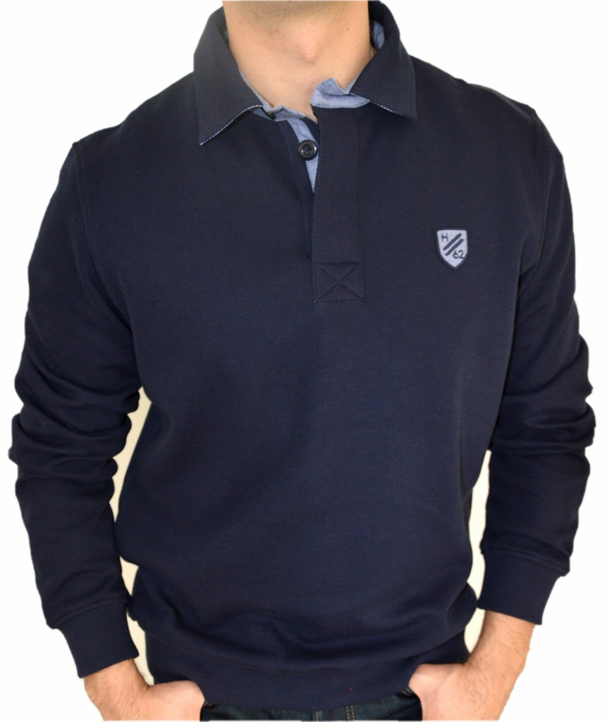 Daniel Hechter Sweatshirt polo sweat navy 14196.460.60