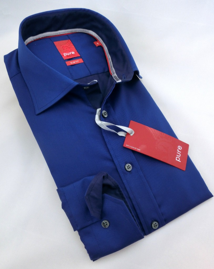 Hemd Pure Slim Fit Bicolor Chambray navy 3312.738.16