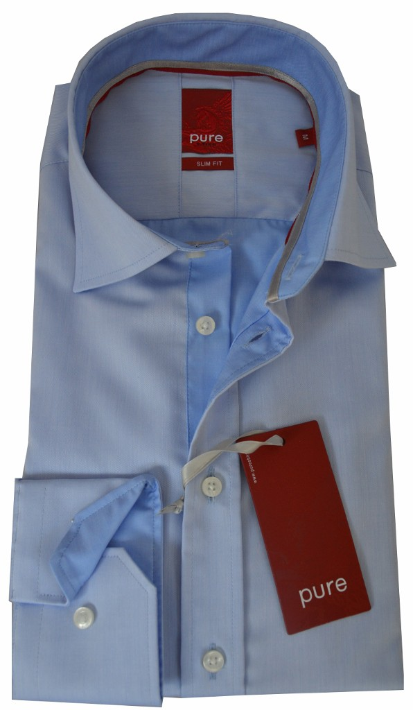 Hemd Pure Slim Fit eisblau 3312.738.12