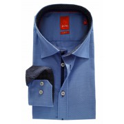Herren Hemd PURE Hatico Slim Fit blau Patch 3525.786.14
